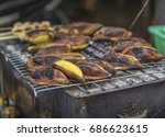 huk mook  one kind of grilled... | Shutterstock . vector #686623615
