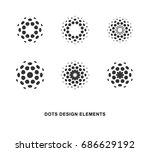 set of abstract circular... | Shutterstock .eps vector #686629192