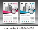 business brochure flyer... | Shutterstock .eps vector #686634352