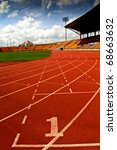 running track number  in front... | Shutterstock . vector #68663632