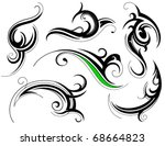 set of decorative shapes with...