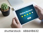 online reviews evaluation time... | Shutterstock . vector #686648632