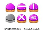 mobile game 2d assets   candy... | Shutterstock .eps vector #686653666