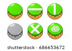 mobile game 2d assets   candy... | Shutterstock .eps vector #686653672