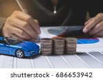 car insurance and car services... | Shutterstock . vector #686653942