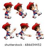 mobile game 2d assets  ... | Shutterstock .eps vector #686654452