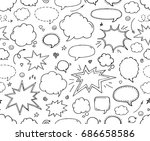 seamless pattern. hand drawn... | Shutterstock .eps vector #686658586