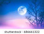 Night Landscape Of Colorful Sk...