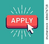 cool vector 'apply' button with ... | Shutterstock .eps vector #686676718