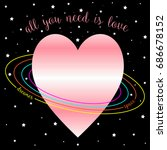 abstract planet heart vector... | Shutterstock .eps vector #686678152