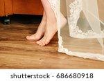 isolated smile shape on feet | Shutterstock . vector #686680918