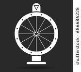 wheel of fortune  icon. vector... | Shutterstock .eps vector #686686228