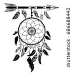 dream catcher with arrows and... | Shutterstock .eps vector #686688442