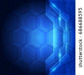 background blue technology... | Shutterstock .eps vector #686688595
