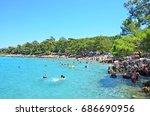 incekum beach  marmaris  turkey ...   Shutterstock . vector #686690956