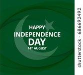 14 august. pakistan... | Shutterstock .eps vector #686692492