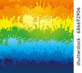 rainbow background. | Shutterstock .eps vector #686692906