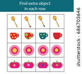 find extra object in sequence...   Shutterstock .eps vector #686703646