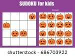 sudoku game for children with... | Shutterstock .eps vector #686703922