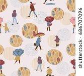 vector illustration of people... | Shutterstock .eps vector #686707096