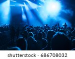 crowd at concert   cheering... | Shutterstock . vector #686708032