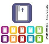 Bible Icons Set  Illustration...