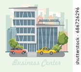 business center vector... | Shutterstock .eps vector #686726296