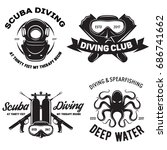 set of scuba diving club and...