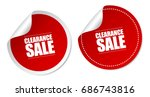 clearance sale stickers | Shutterstock .eps vector #686743816