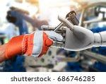 artificial intelligence  ai ... | Shutterstock . vector #686746285