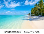 the beautiful landscape of the... | Shutterstock . vector #686749726