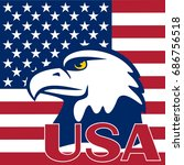 eagle is located on a flag of... | Shutterstock .eps vector #686756518