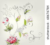 spring decorative card | Shutterstock .eps vector #68676784