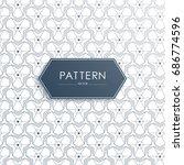 vector seamless geometric... | Shutterstock .eps vector #686774596