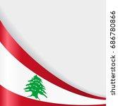 lebanese flag wavy abstract...   Shutterstock .eps vector #686780866