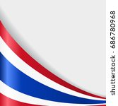 thai flag wavy abstract... | Shutterstock .eps vector #686780968