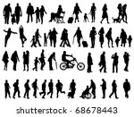 another over fifty people black ... | Shutterstock .eps vector #68678443