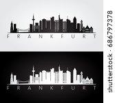 frankfurt skyline and landmarks ... | Shutterstock .eps vector #686797378