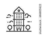 skyscraper icon  part of the... | Shutterstock .eps vector #686805622