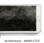 close up mobile smartphone with ... | Shutterstock . vector #686811715