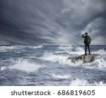 businessman looking for the... | Shutterstock . vector #686819605