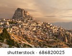 Town Of Uchisar At The Sunrise  ...