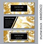 set of black  white and gold... | Shutterstock .eps vector #686820622