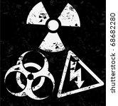 vector danger signs   Shutterstock .eps vector #68682280