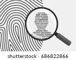fingerprint and magnifying... | Shutterstock .eps vector #686822866