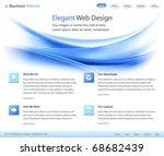 elegant web site design... | Shutterstock .eps vector #68682439