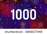 congratulations 1k followers... | Shutterstock .eps vector #686827048