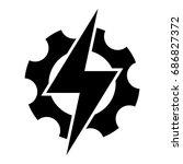 electric power. vector. | Shutterstock .eps vector #686827372