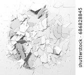 abstract destruction white... | Shutterstock . vector #686828845