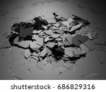 broken damage cracked dark... | Shutterstock . vector #686829316
